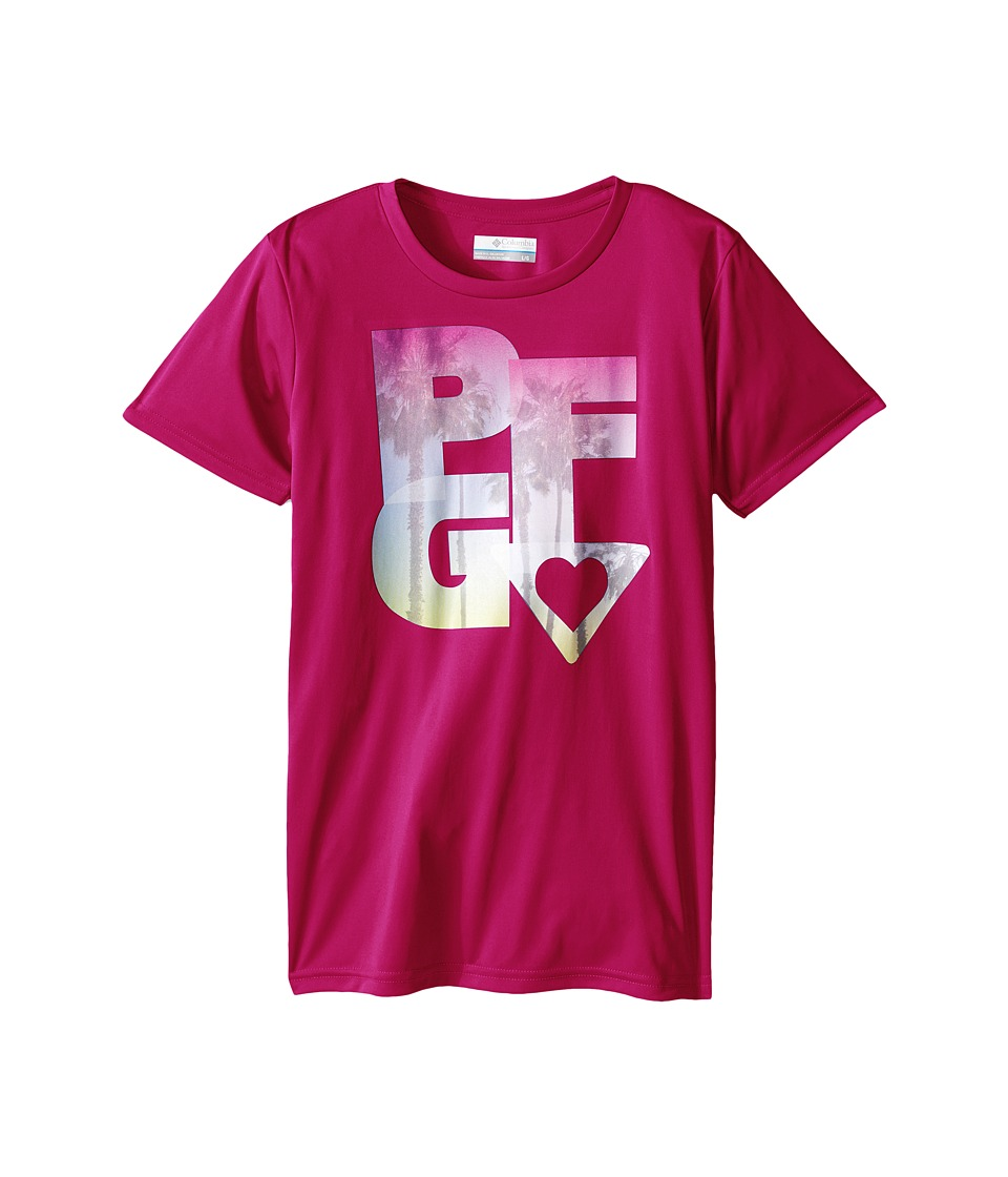 Columbia Kids - PFG Haze Graphic Tee (Little Kids/Big Kids) (Haute Pink) Girl's T Shirt