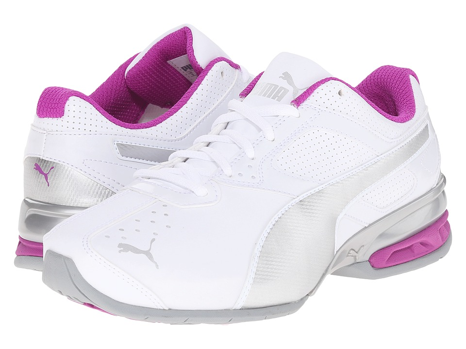 PUMA - Tazon 6 Wide (White/Puma Silver/Purple Cactus Flower) Women's Shoes