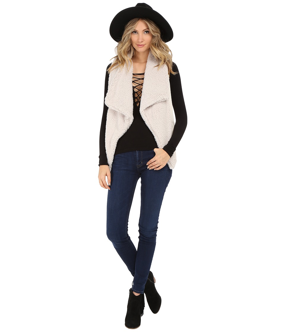 BB Dakota - Rennie Sweater Vest with Faux Fur (Ivory) Women's Sweater