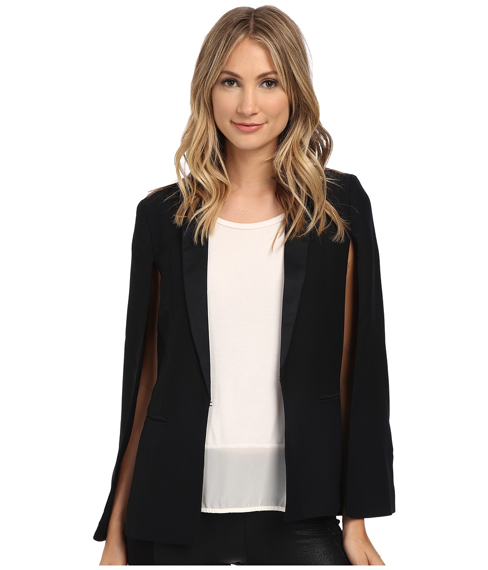 BB Dakota - Janae Satin Back Crepe Capelet (Black) Women