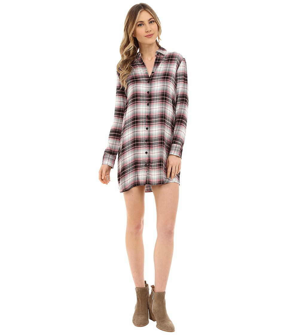 BB Dakota - Nikki Yarn Dyed Rayon Shirt Dress (Multi) Women's Dress