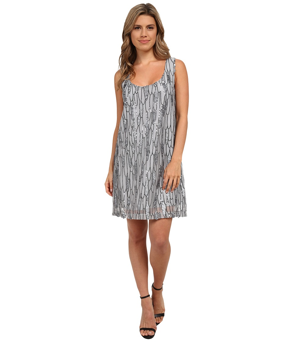 BB Dakota - Roselynn Sequin Tank Dress (Silver) Women's Dress