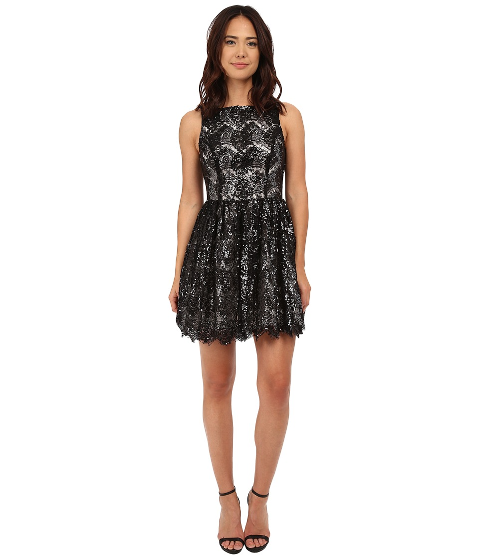 BB Dakota - Sabrina Sequin Lace Dress (Black) Women