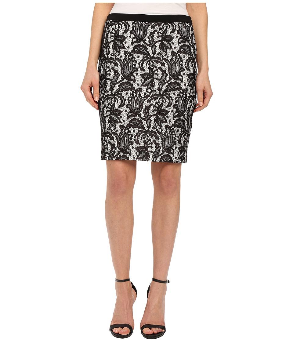 Karen Kane - Bonded Lace Skirt (Black/Off White) Women's Skirt