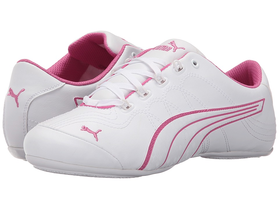 PUMA - Soleil v2 Comfort Fun (White/White/Phlox Pink) Women's Shoes