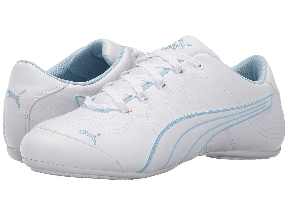 PUMA - Soleil v2 Comfort Fun (White/White/Cool Blue) Women's Shoes