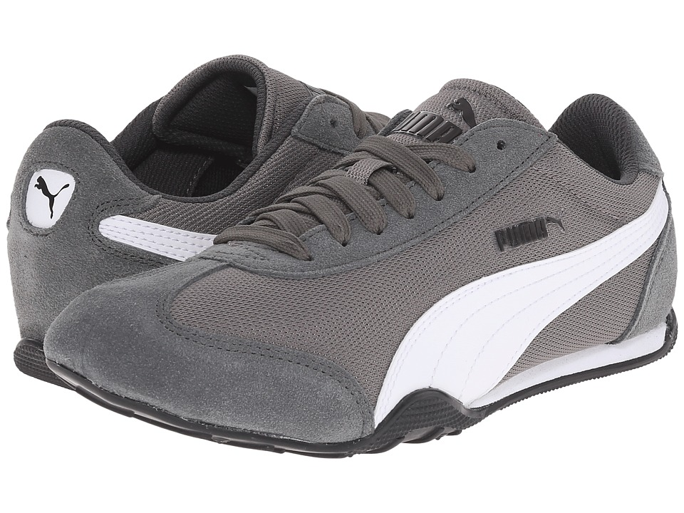 PUMA - 76 Runner Fun Mesh (Steel Gray/White) Women's Shoes