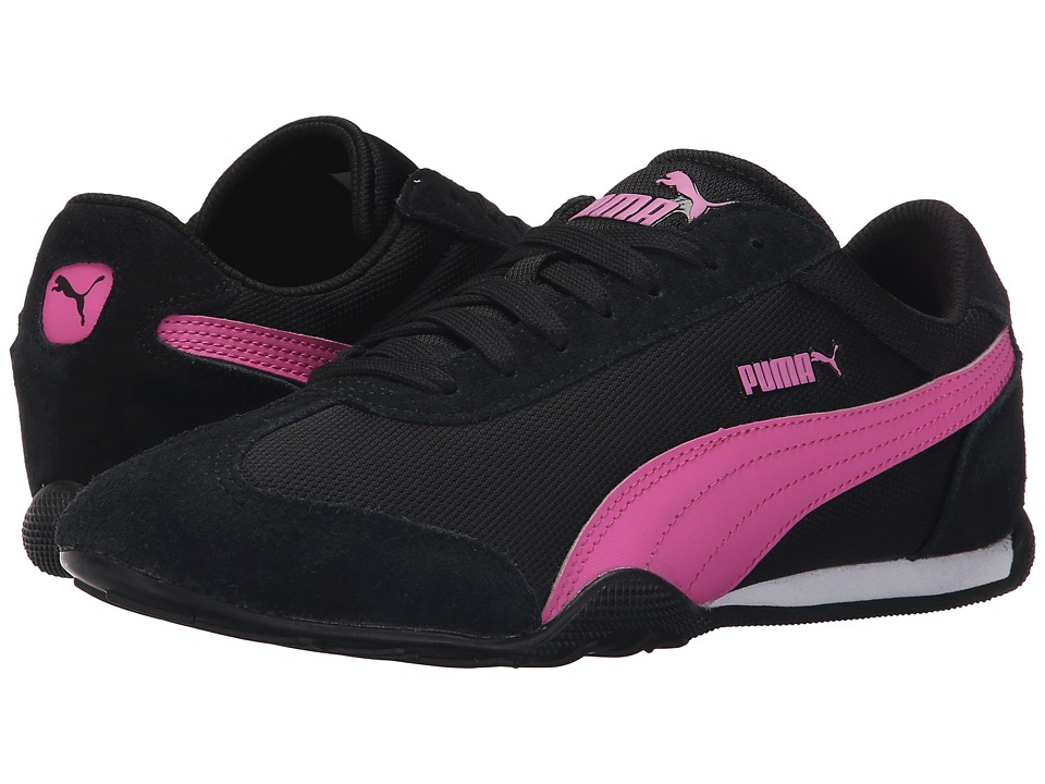PUMA - 76 Runner Fun Mesh (Black/Phlox Pink) Women's Shoes