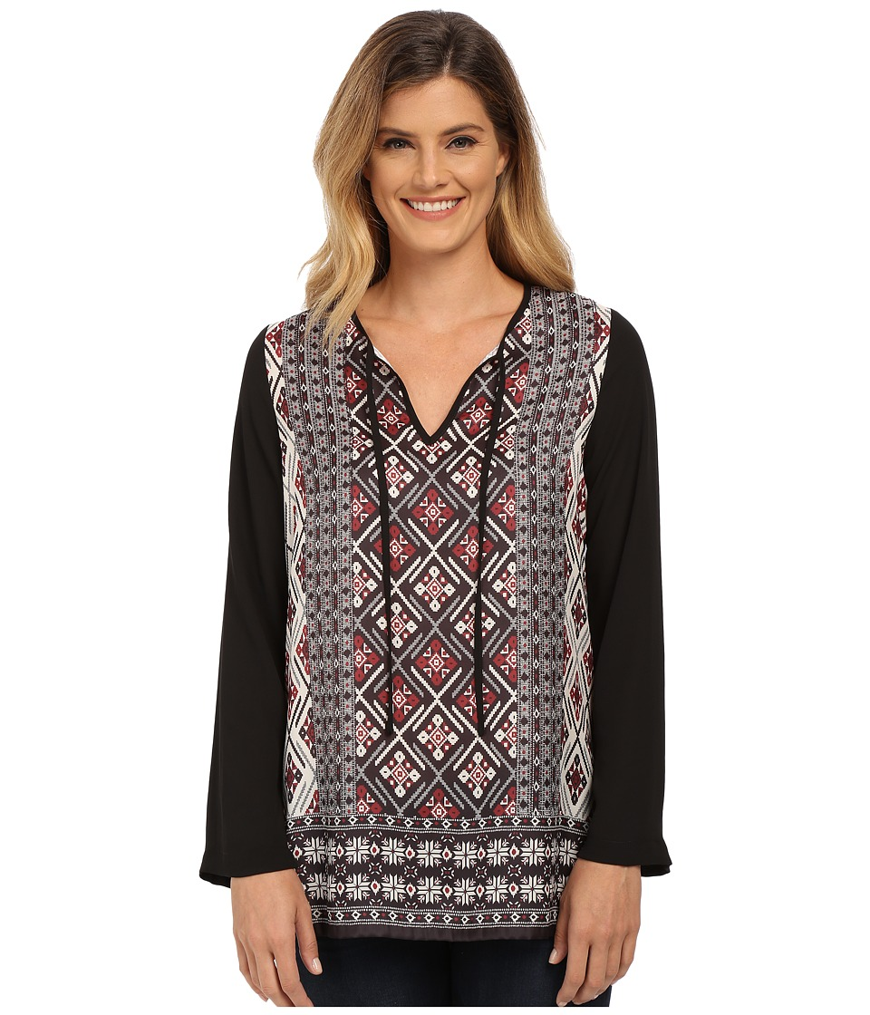 Karen Kane Crimson Diamond Print Tunic (Print) Women's Blouse