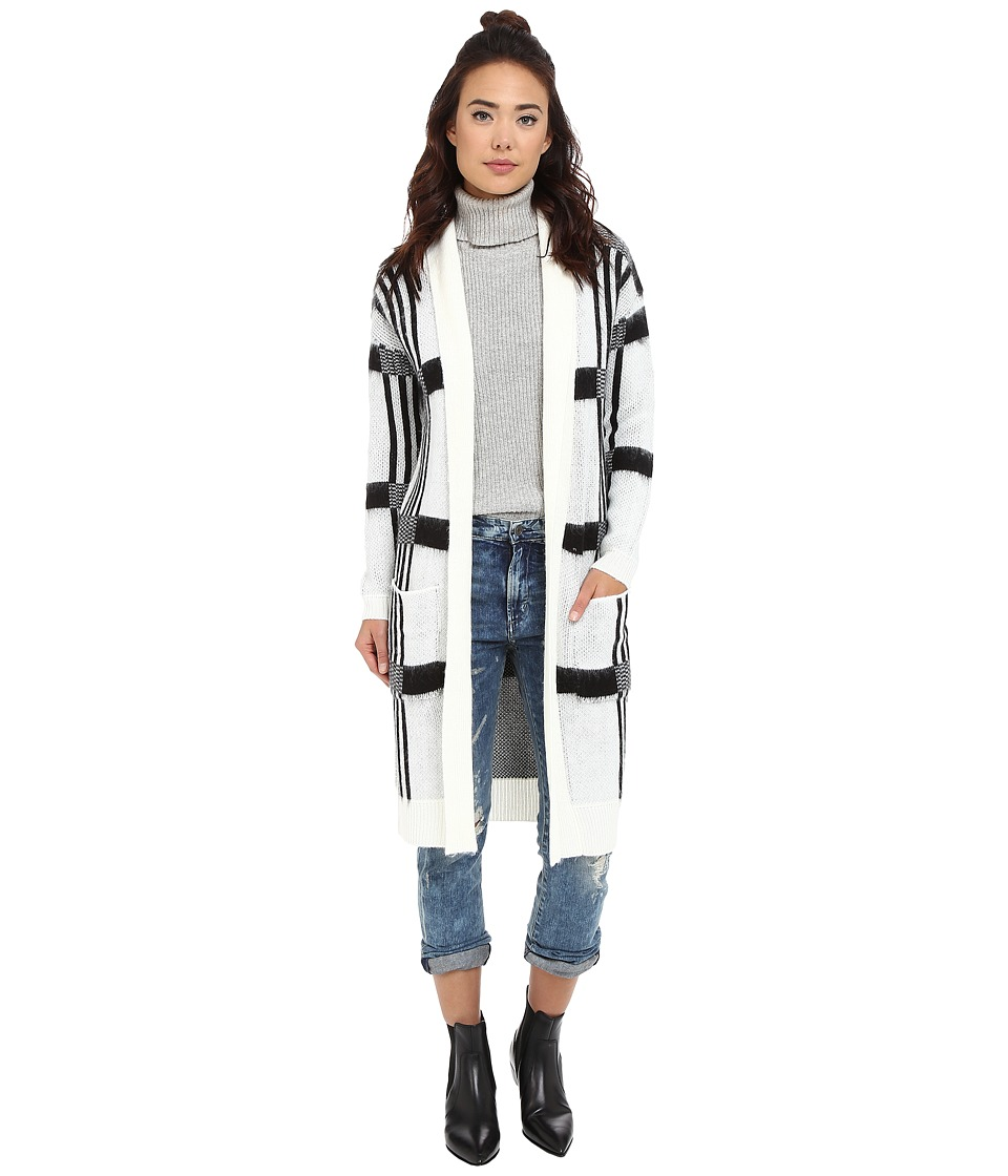 BB Dakota - Mobley Plaid Cardigan Sweater (Ivory) Women's Sweater
