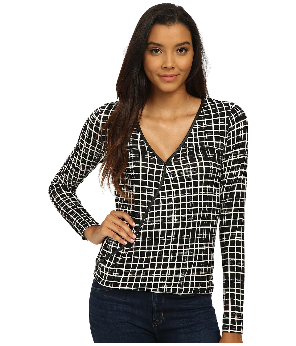 Tart - Charlize Top (Painted Grid) Women's Clothing