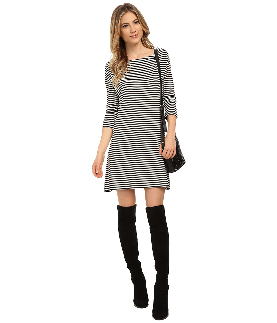 BB Dakota - Disa Striped French Terry Shift Dress (Black) Women's Dress