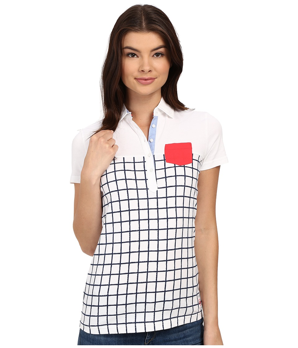 Ariat - Twist Jersey Polo (Navy Check) Women's Clothing