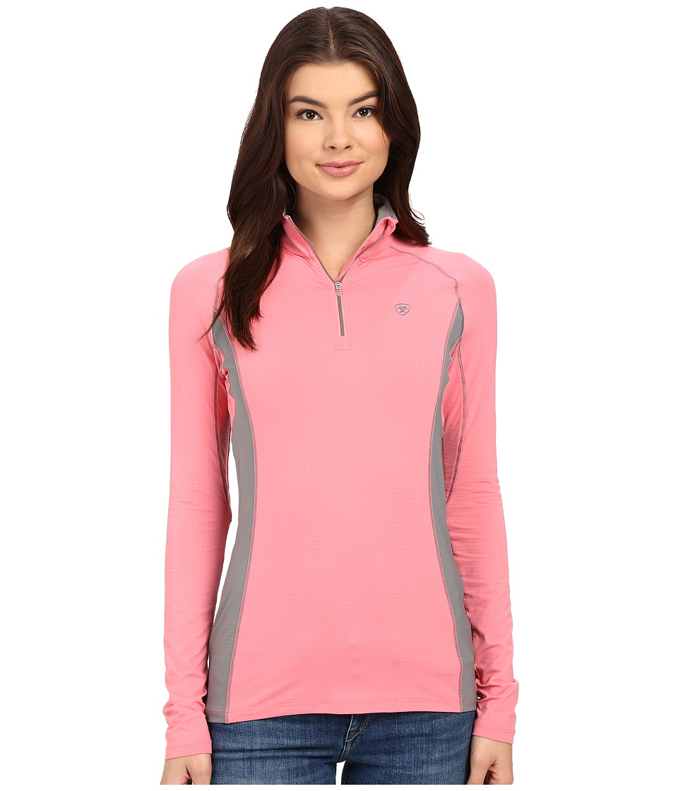Ariat - Triumph Factor 1/4 Zip (Strawberry Pink) Women's Clothing