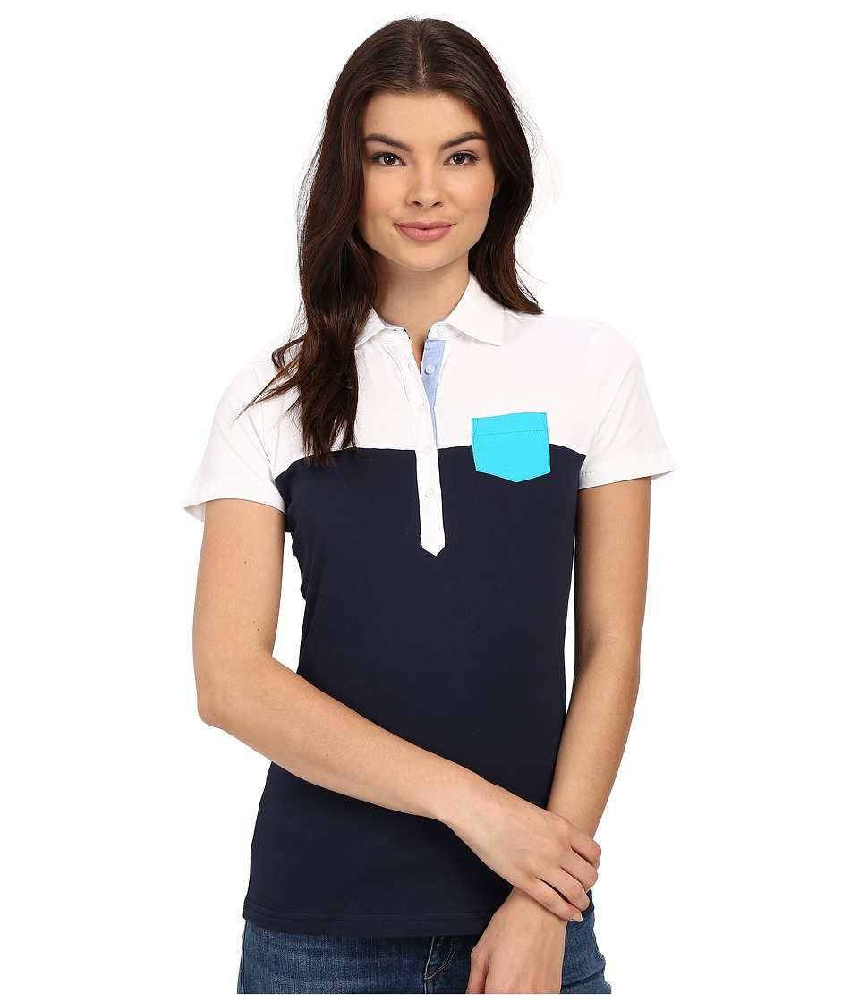 Ariat - Twist Jersey Polo (Navy) Women's Clothing