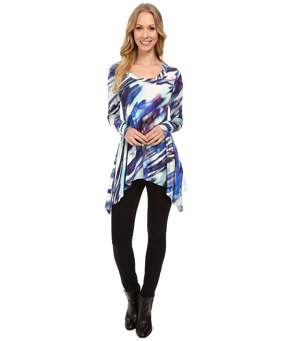 Karen Kane - Aurora Print Handkerchief Top (Print) Women's Clothing