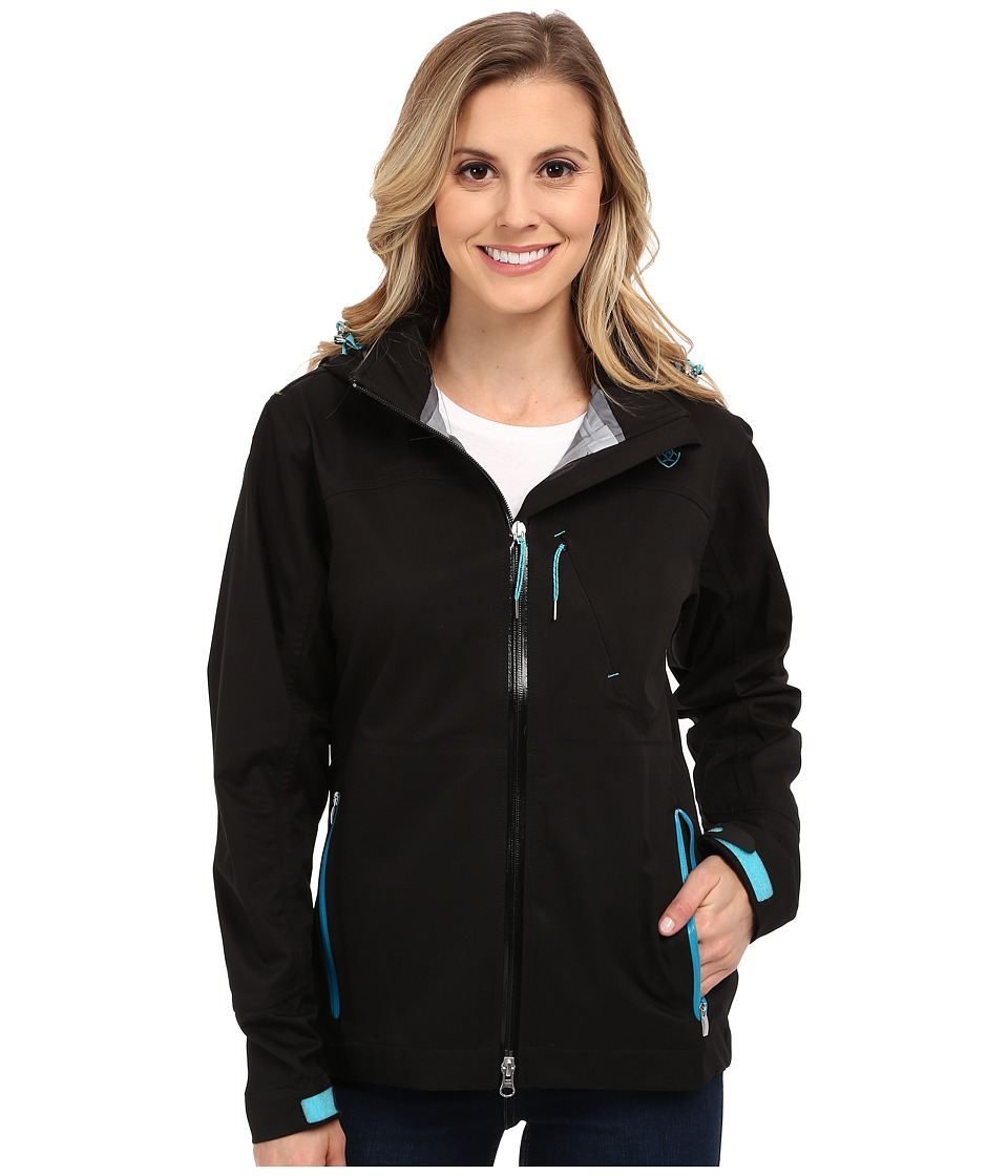 Ariat - Caprilli Waterproof Jacket (Black) Women's Coat