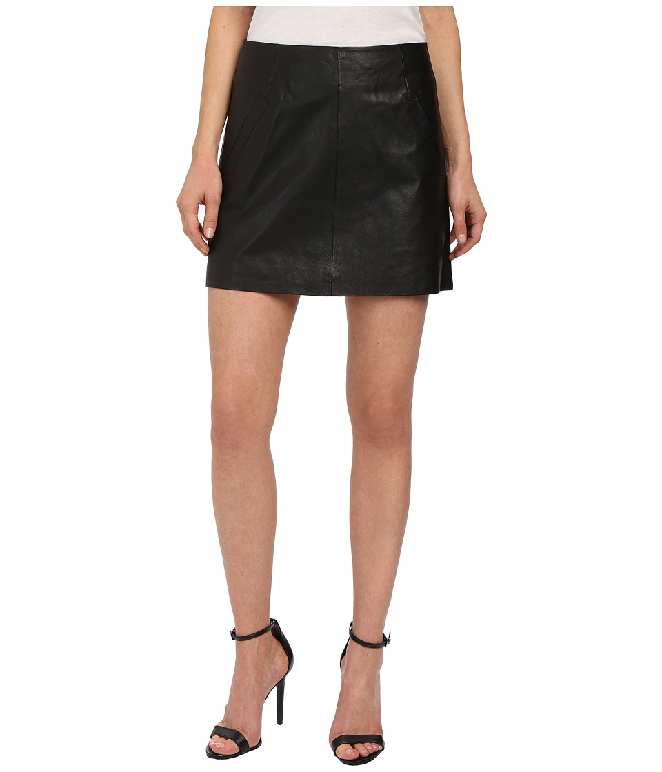 BB Dakota - Ian Leather Mini Skirt (Black) Women's Skirt