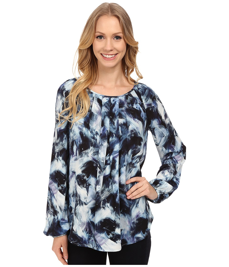 Karen Kane - Northern Lights Pleated Blouse (Print) Women's Blouse