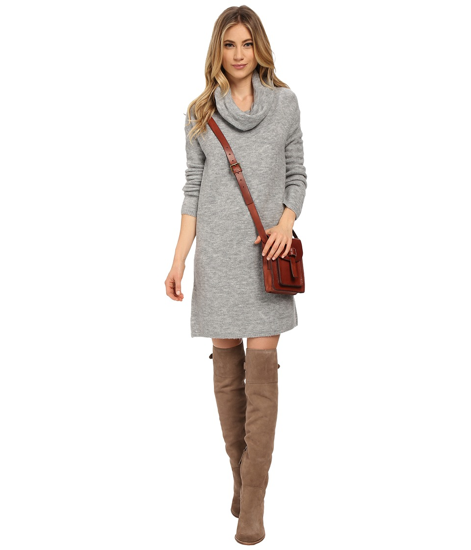 BB Dakota - Leighton Turtleneck Sweater Dress (Grey) Women's Dress