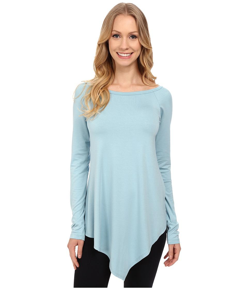 Karen Kane - Raglan Sleeve Angle Hem Top (Glacier) Women's T Shirt