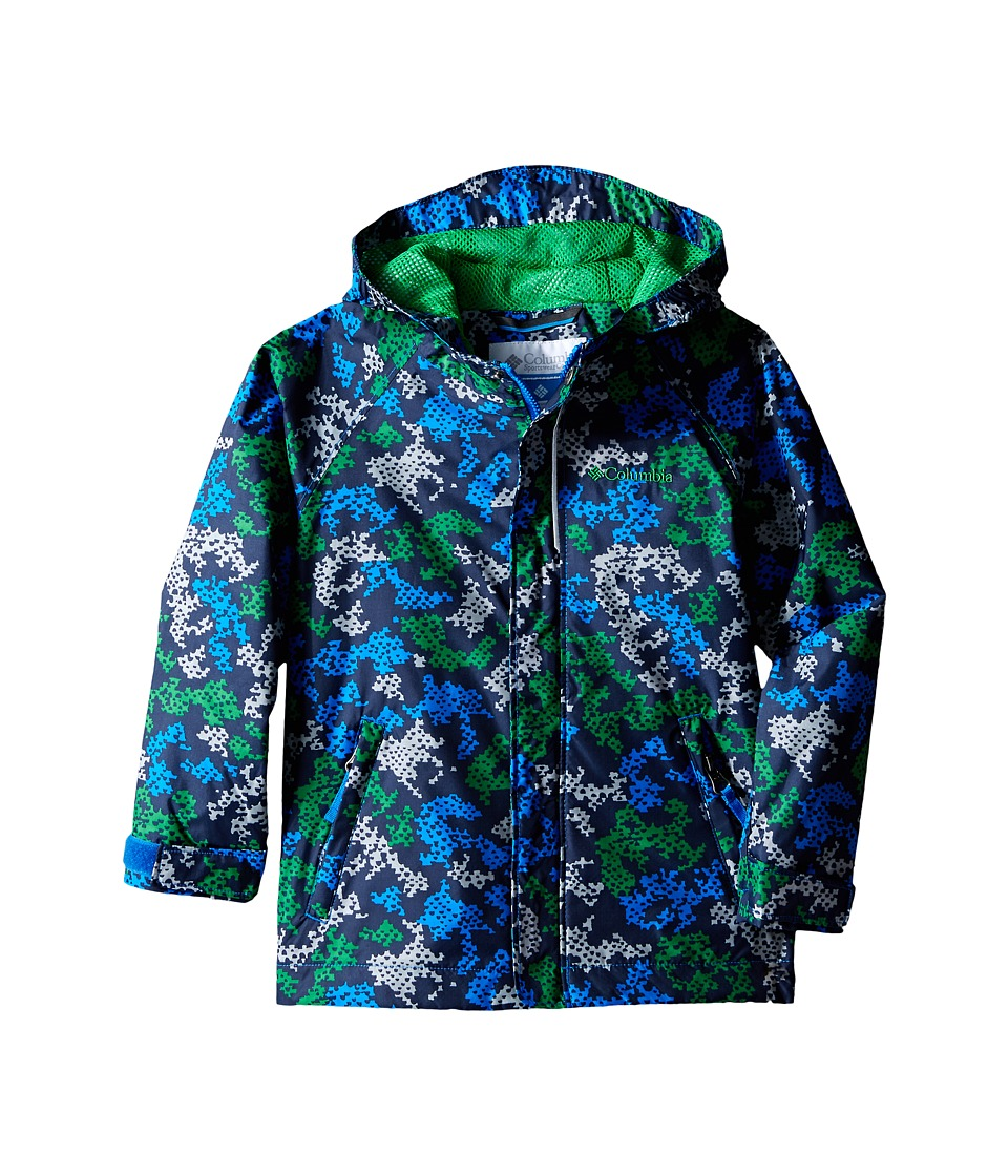 Columbia Kids - Fast Curious Rain Jacket (Toddler) (Fuse Green Camo) Boy's Coat