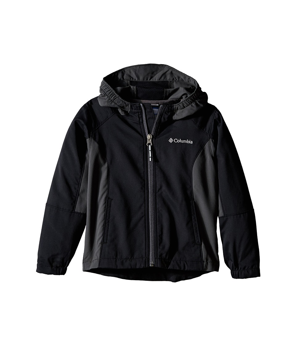 Columbia Kids - SplashFlash II Hooded Softshell Jacket (Toddler) (Black/Grill) Boy's Coat