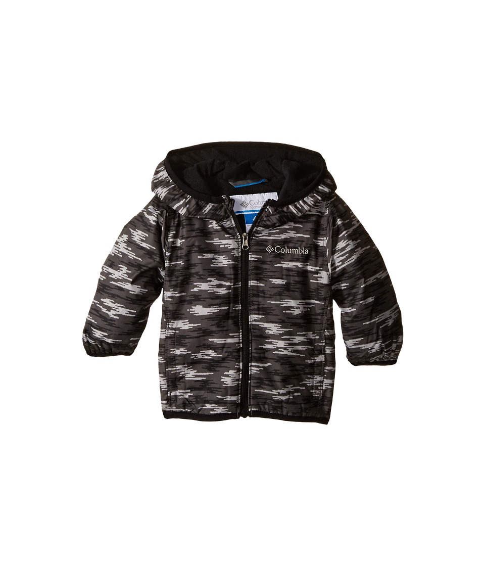 Columbia Kids - Mini Pixel Grabber II Wind Jacket (Infant/Toddler) (Black Camo) Boy's Coat
