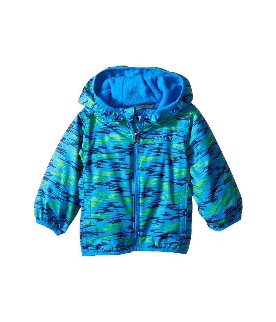 Columbia Kids - Mini Pixel Grabber II Wind Jacket (Infant/Toddler) (Hyper Blue Camo) Boy's Coat