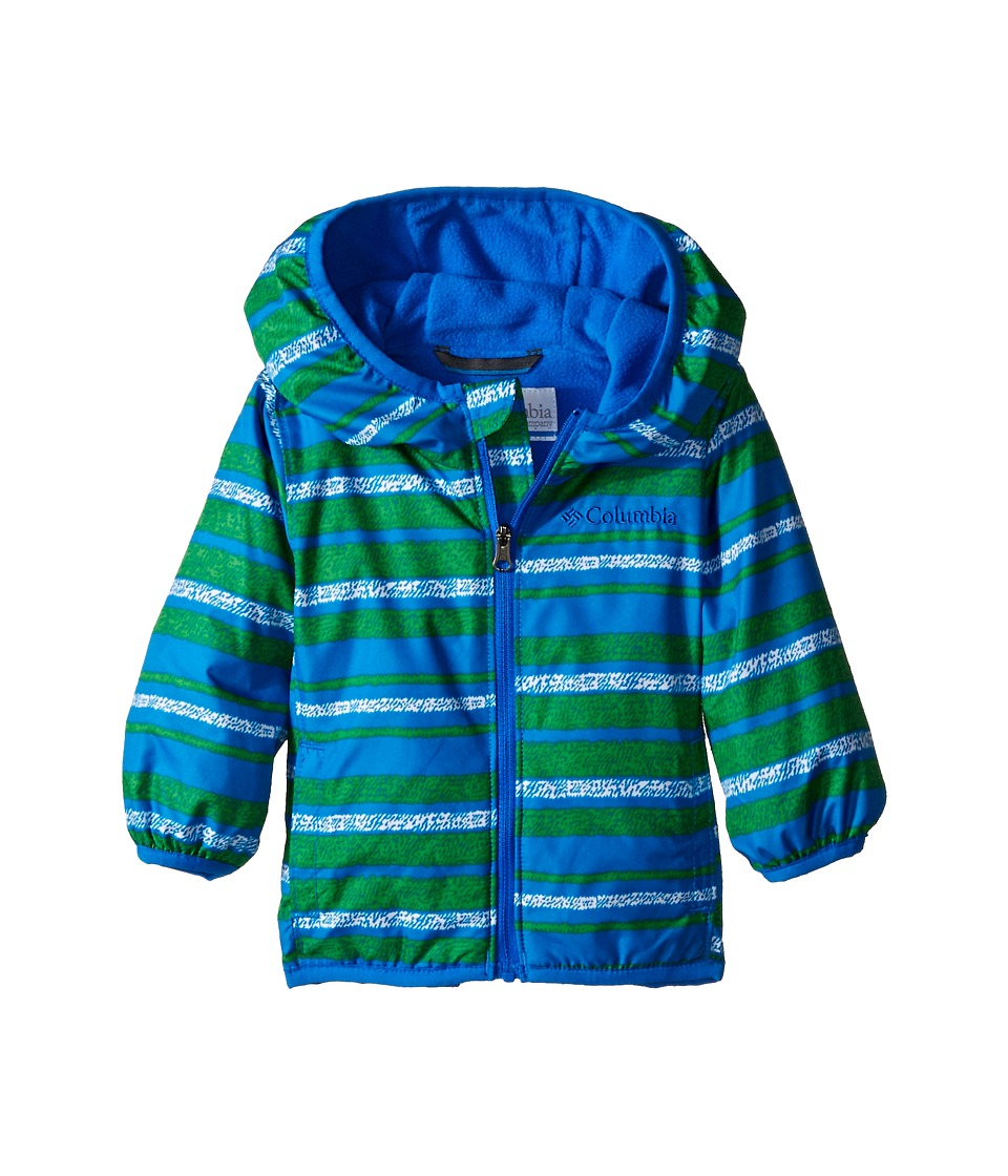 Columbia Kids - Mini Pixel Grabber II Wind Jacket (Infant/Toddler) (Hyper Blue Stripe) Boy's Coat