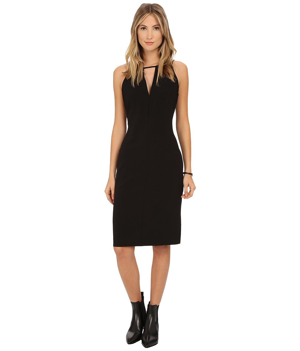 BB Dakota - Laine Heavy Crepe Strappy Dress (Black) Women's Dress