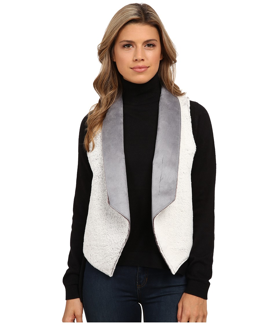 Tart - Sheri Faux Fur Vest (Natural Grey) Women's Vest
