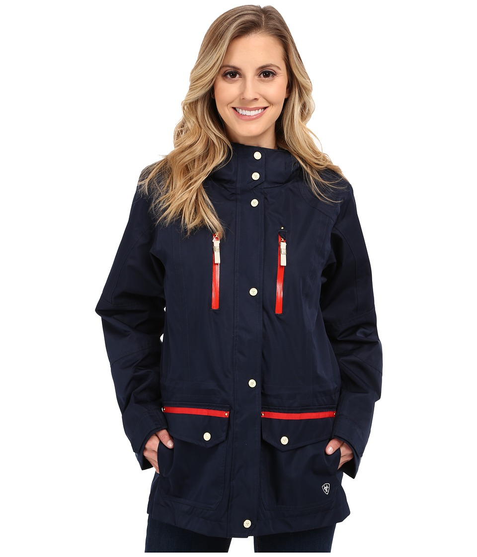 Ariat - Gladstone Waterproof Parka (Navy) Women's Coat