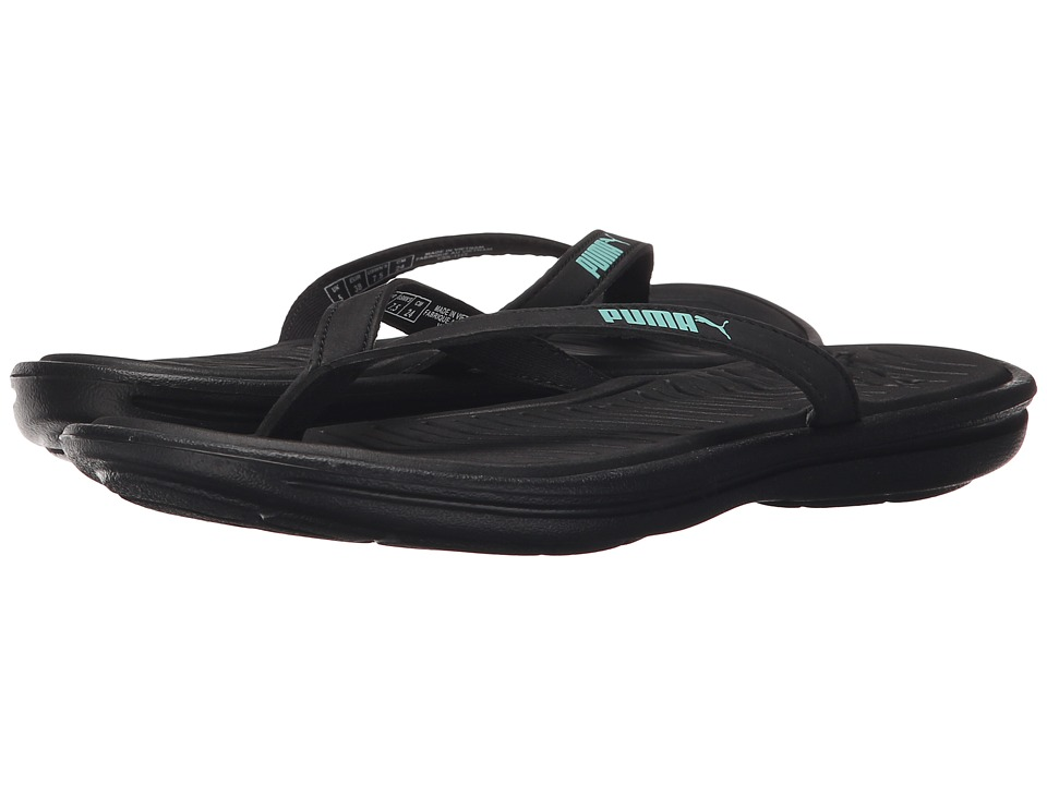 PUMA - Lux Flip Pro (Black/Holiday) Women's Sandals