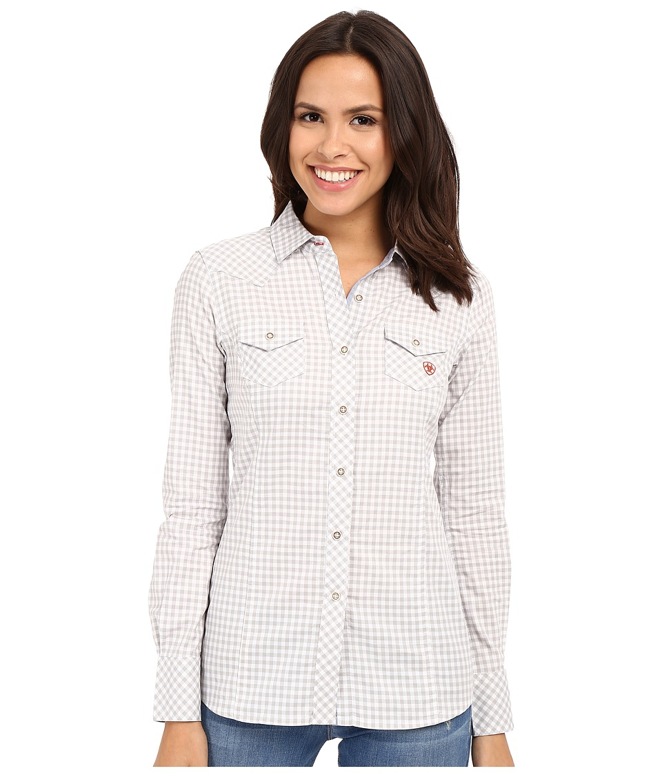 Ariat - Keen Shirt (Heather Gray Check) Women's Clothing