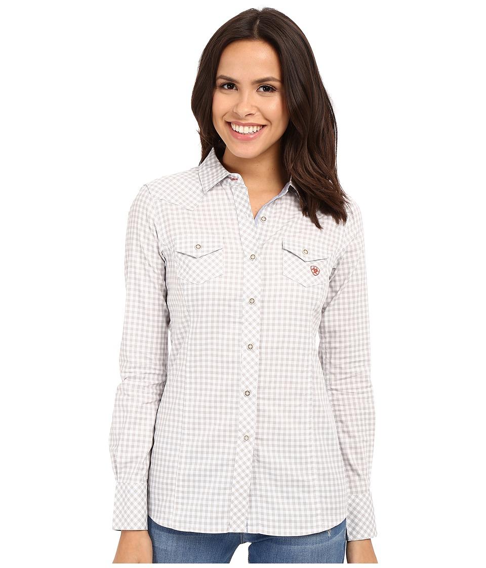 Ariat - Keen Shirt (Heather Gray Check) Women's Clothing