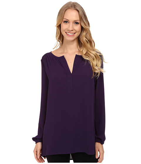 Karen Kane - Side-Slit Blouse (Purple) Women's Blouse