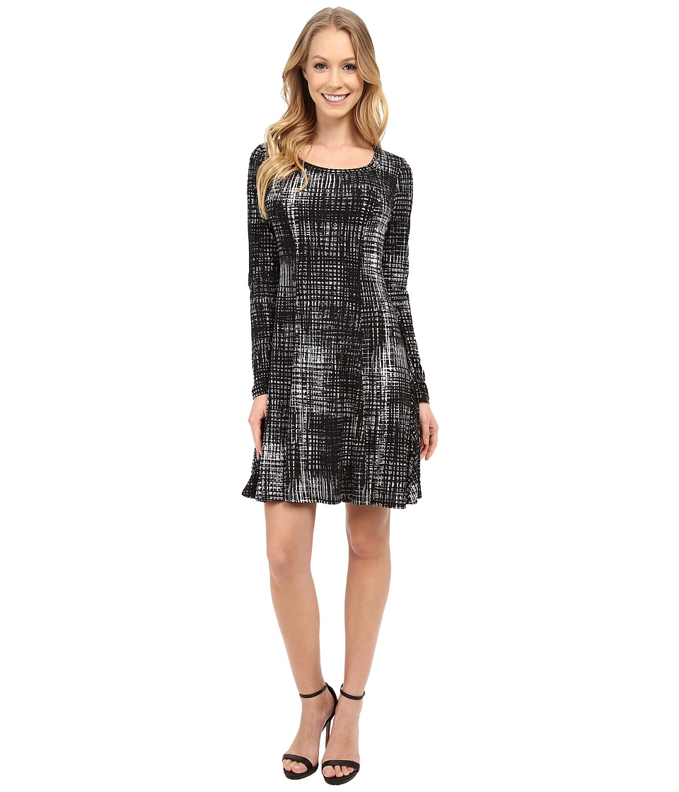 Karen Kane - Long Sleeve Print Dress (Print) Women's Dress