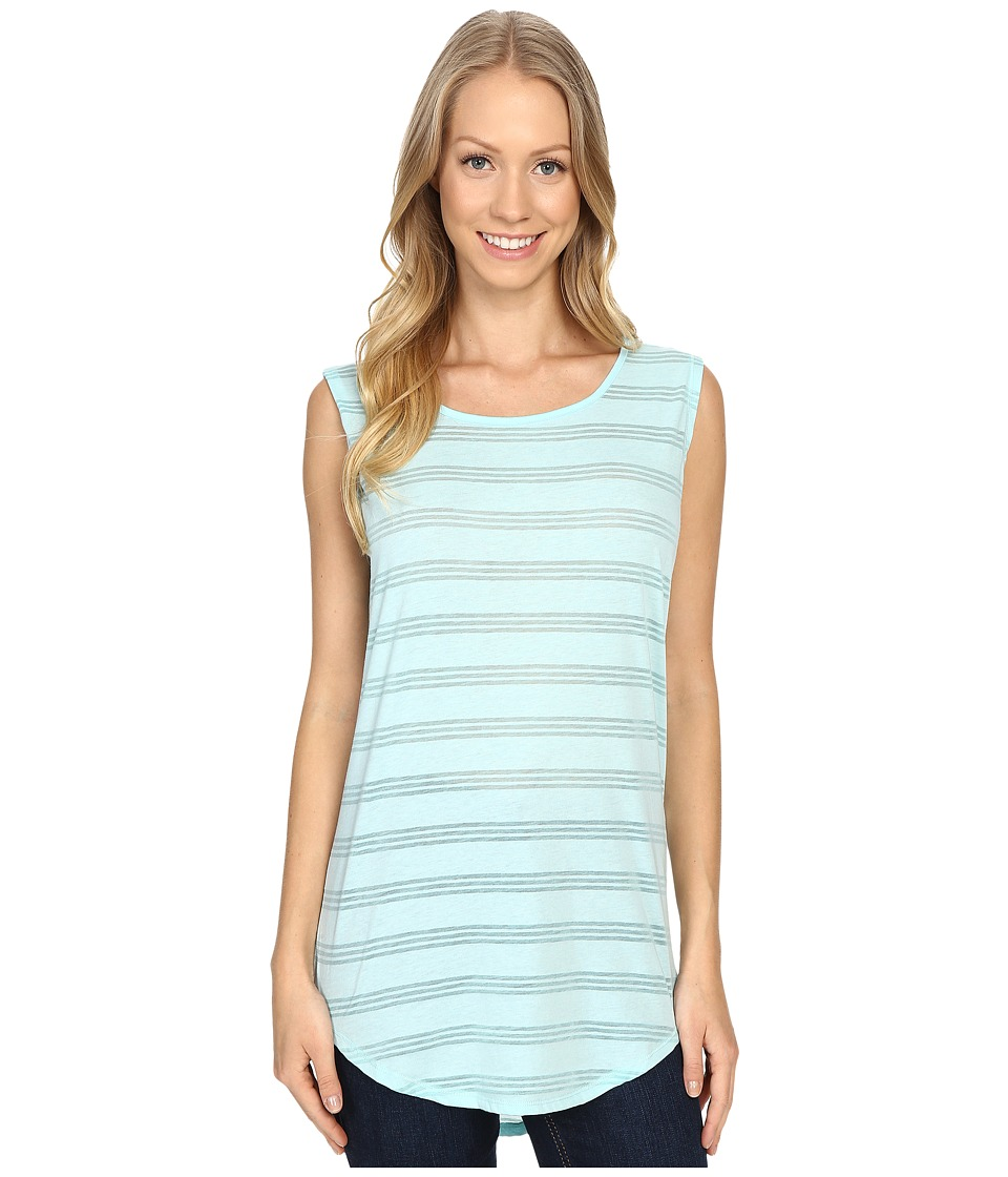 Carve Designs - Cannon Sleeveless Tee (Turquoise) Women's Sleeveless