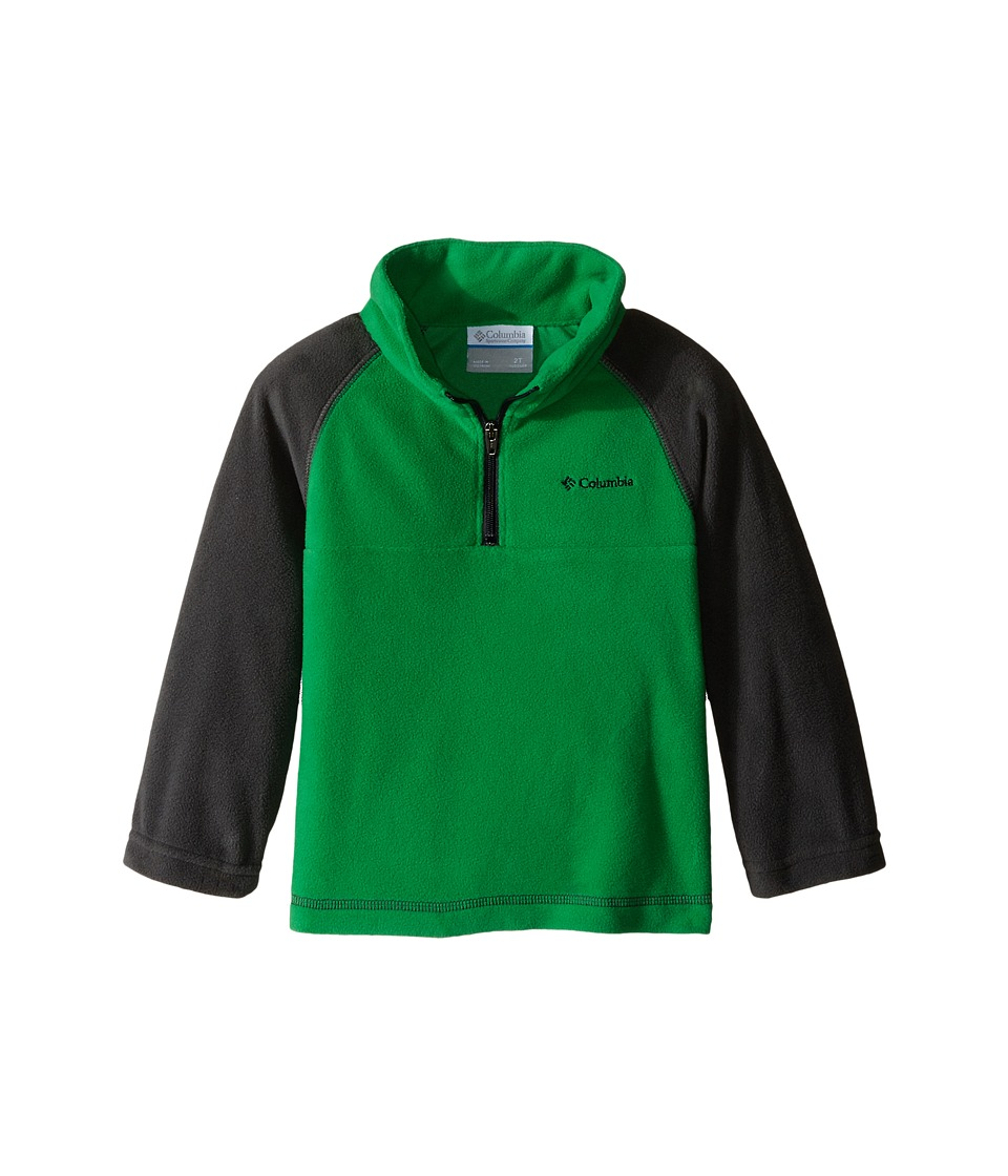 Columbia Kids - Glacial Fleece Print Half Zip (Toddler) (Fuse Green/Grill) Boy's Fleece