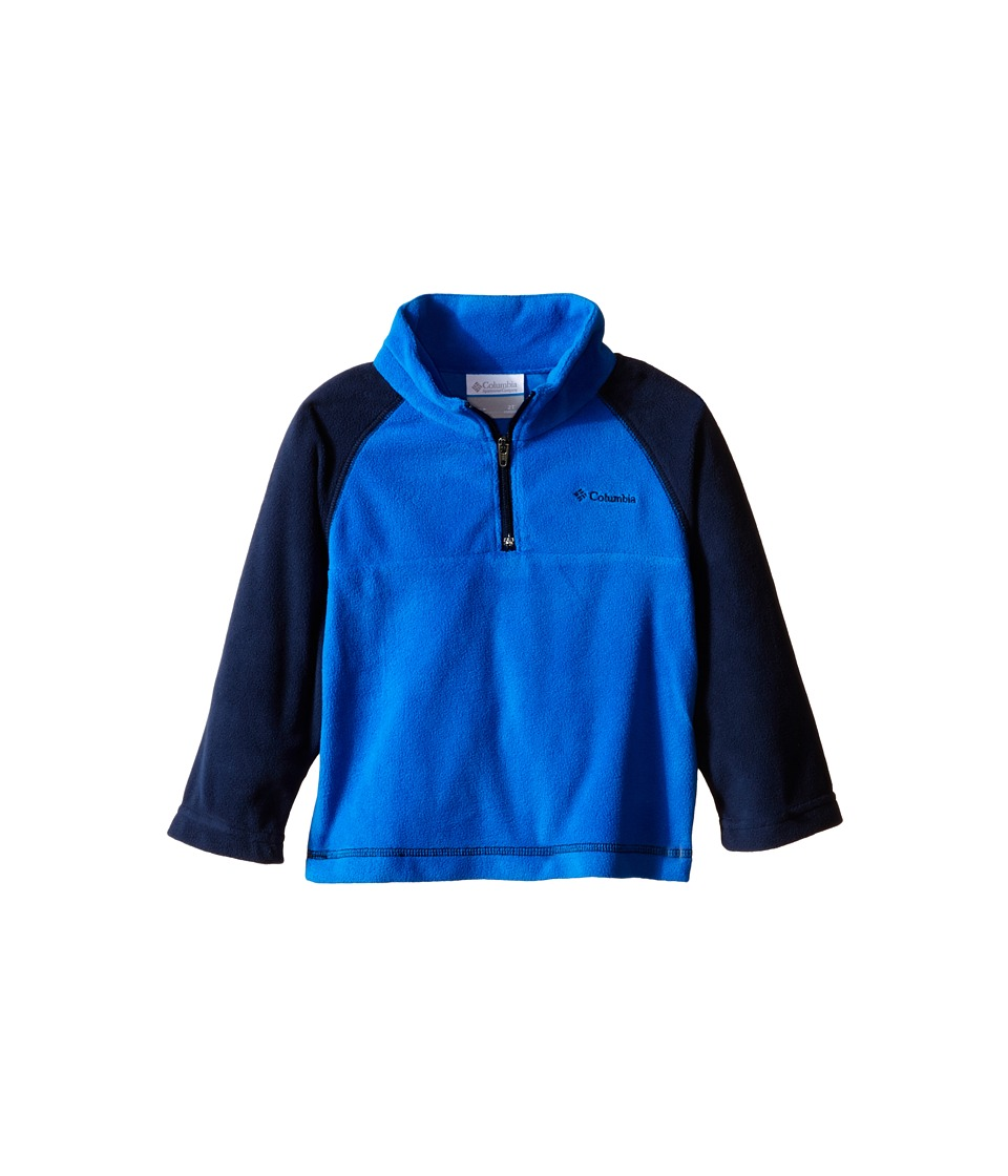 Columbia Kids - Glacial Fleece Print Half Zip (Toddler) (Super Blue/Collegiate Navy) Boy