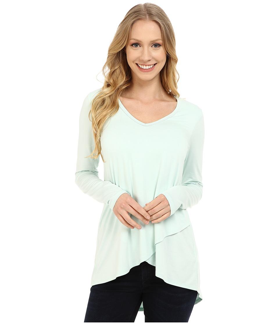 Karen Kane - Long Sleeve Asymmetrical Hem Wrap Top (Seafoam) Women's Clothing