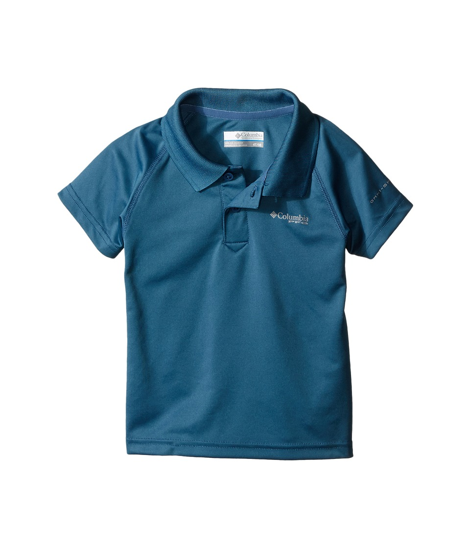Columbia Kids - Terminal Tackle Polo (Toddler) (Steel) Boy's Clothing