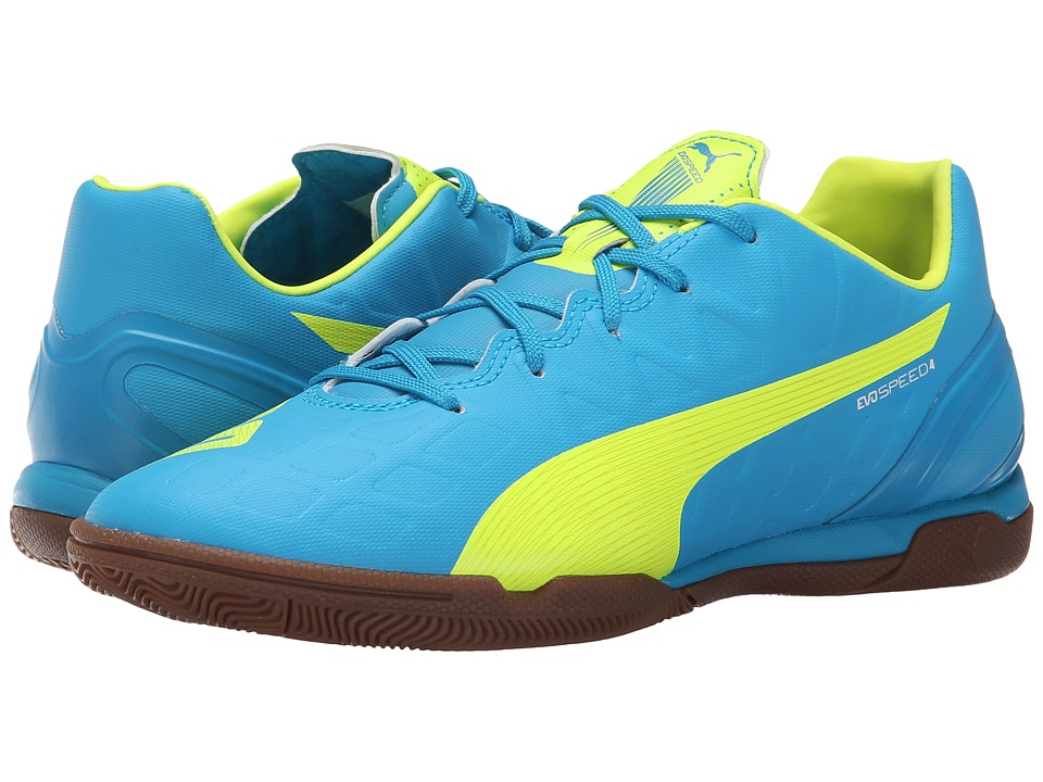 PUMA - evoSPEED 4.4 IT (Atomic Blue/Safety Yellow/White) Women's Soccer Shoes