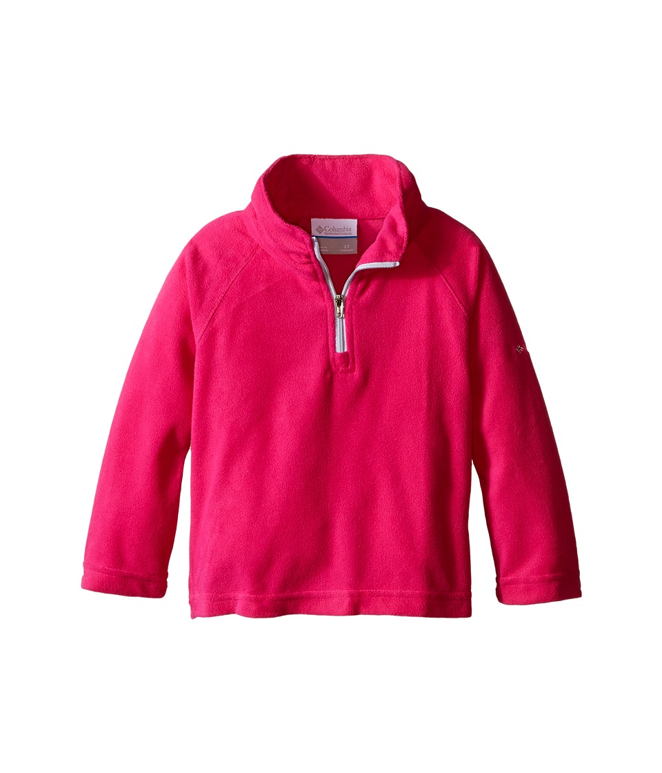 Columbia Kids - Glacial Fleece Half Zip (Toddler) (Haute Pink/Cirrus Grey) Girl's Fleece