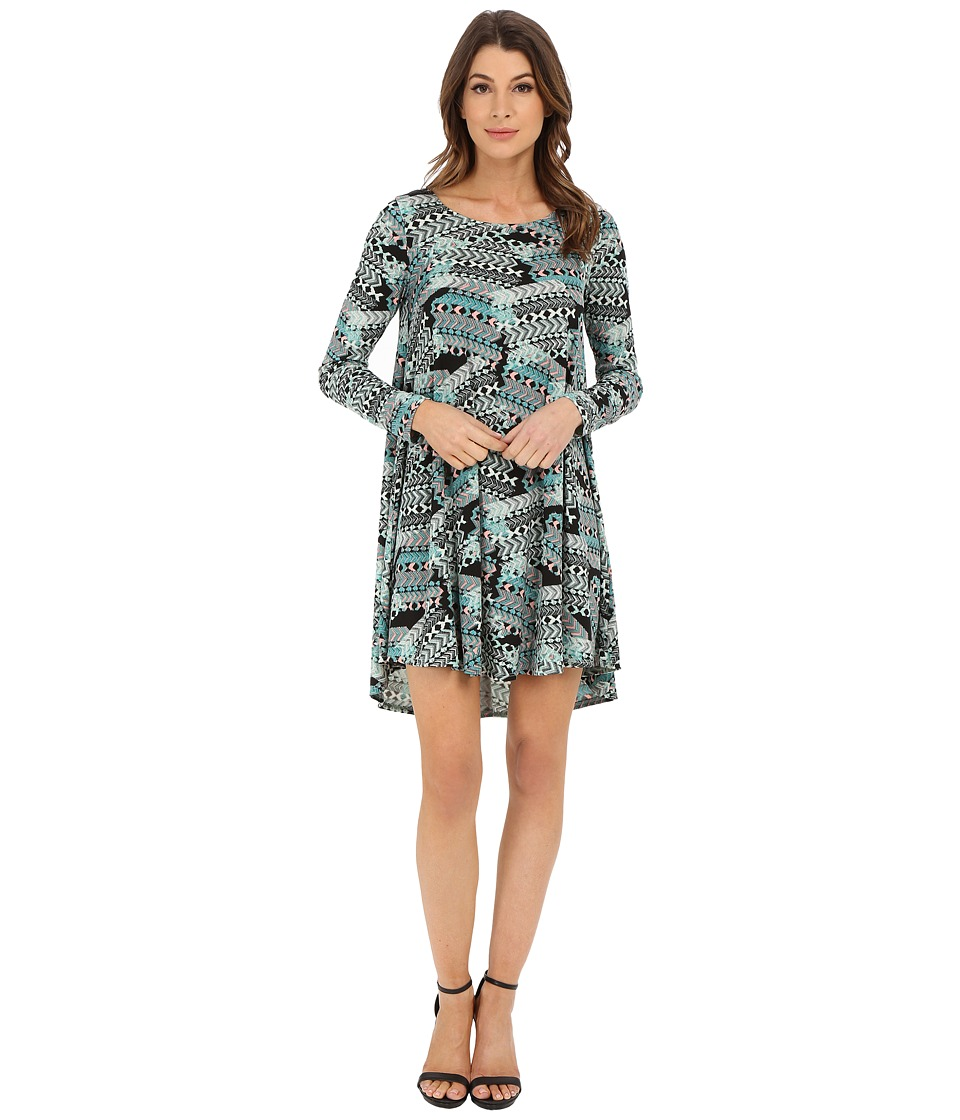 Karen Kane Aquarius Print Swing Dress (Multi) Women