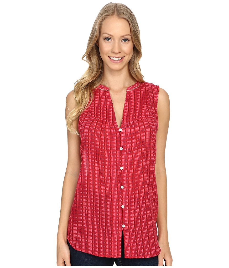 Carve Designs - Alix Gauze Shirt (Strawberry Alpine) Women's Clothing plus size,  plus size fashion plus size appare