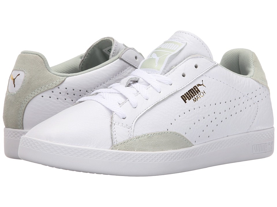 PUMA - Match Lo Basic Sports (White/Green Lily) Women's Shoes
