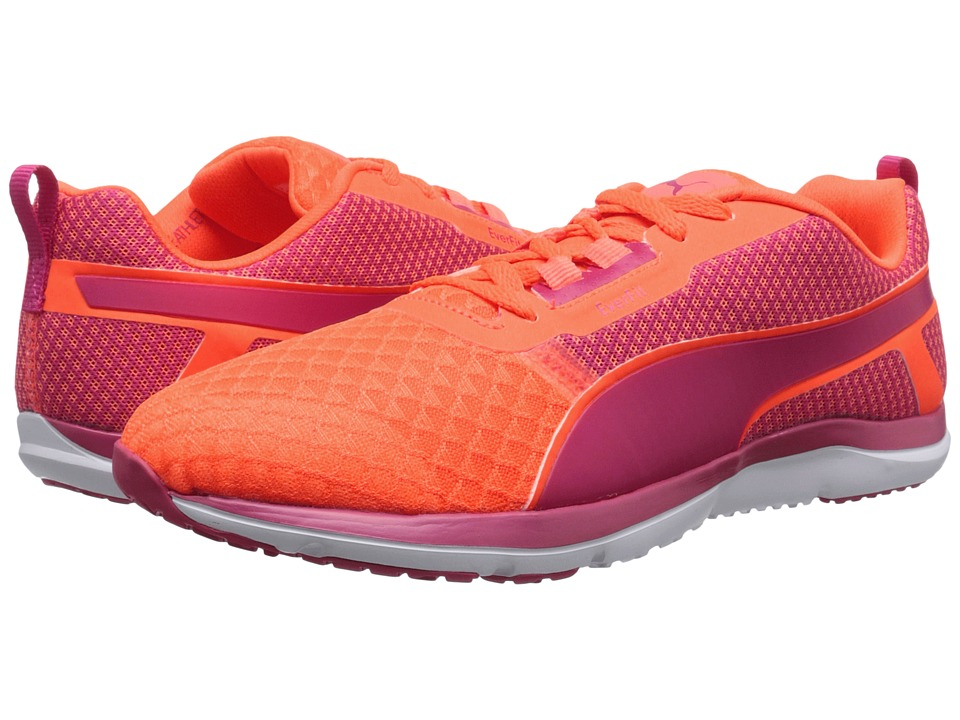 PUMA - Pulse Flex XT Core (Fluo Peach/Rose Red/White) Women's Shoes