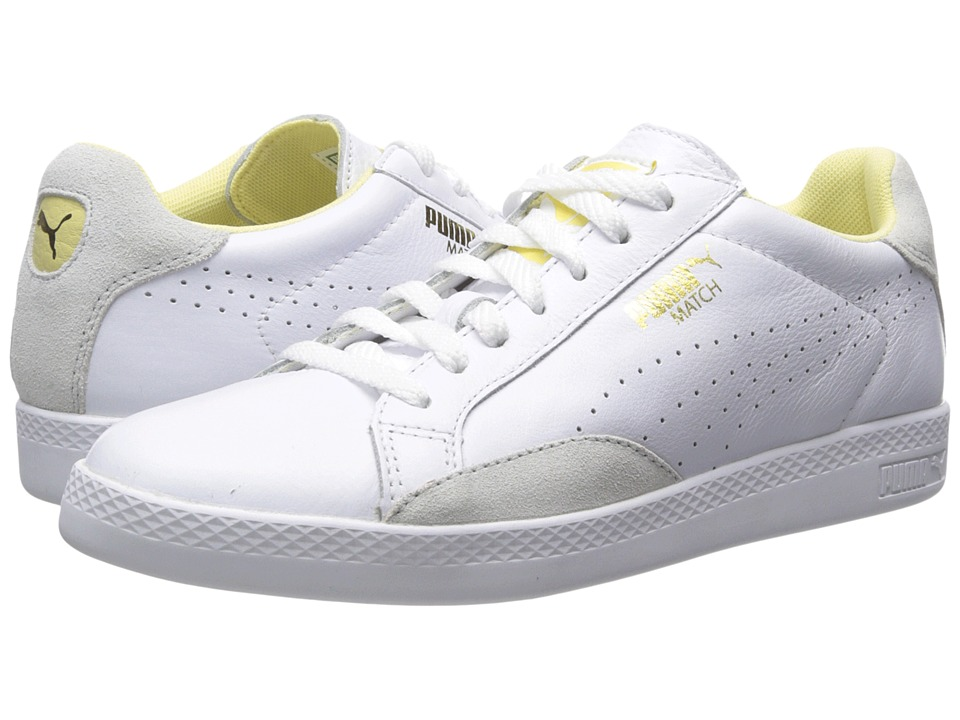 PUMA - Match Lo Basic Sports (White/Mellow Yellow) Women's Shoes
